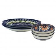 castlestar 耳付きパスタ皿 はな くじゃく もり 重ねやすい 食器 シチュー&サラダボウル 重ね